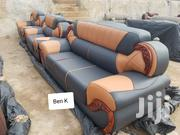 Clean Leather Living Room Sofa Set | Furniture for sale in Ashanti, Kumasi Metropolitan