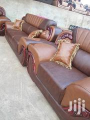 Smooth Leather Living Room Sofa Set | Furniture for sale in Ashanti, Kumasi Metropolitan