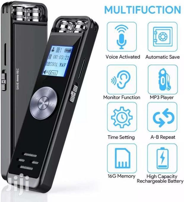 Digital Voice Recorder (16GB) With SD Card Slot