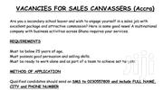 Vacancies For Sales Canvassers - Accra | Accounting & Finance Jobs for sale in Greater Accra, Kokomlemle