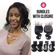 Brazilian 8' 4 Bundles Plus 3 Part Closure | Hair Beauty for sale in Greater Accra, Nungua East