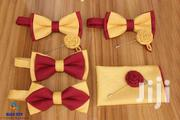 BLUE CITY Gold And Burgandy Bow Tie Set | Clothing Accessories for sale in Greater Accra, Odorkor