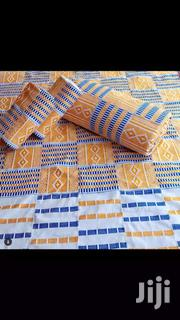 Beautiful White, Gold And Blue Kente | Clothing for sale in Greater Accra, Labadi-Aborm