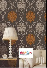 Brown And Orange Damask Wallpaper | Home Accessories for sale in Greater Accra, Mataheko
