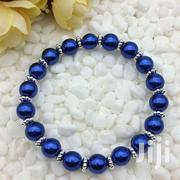 Jewelry 8mm Deep Blue Pearl Beads Stretch Bracelet | Jewelry for sale in Greater Accra, Ga South Municipal