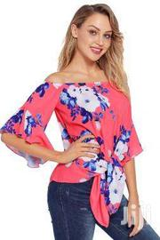 Floral Tie Front Off The Shoulder Top | Clothing Accessories for sale in Greater Accra, Accra Metropolitan