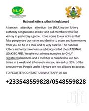 LEAKS LOTTERY NUMBERS FROM NATIONAL LOTTERY AUTHORITY NLA | Automotive Services for sale in Ashanti, Ahafo Ano North