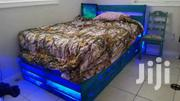 Pallet Bed With LED Lightning | Furniture for sale in Greater Accra, Okponglo