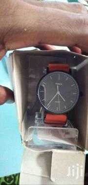 Timex Weekender Fairfield Black Dial Orange Leather Band Analog Watch | Watches for sale in Greater Accra, East Legon