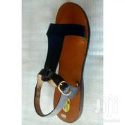 Ladies Blue Black Leather Sandals | Shoes for sale in Greater Accra, New Mamprobi