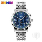 SKMEI Casual Quartz Watch Men Luxury Stainless Steel BLUE | Watches for sale in Greater Accra, Achimota