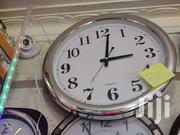 Silver Round Wall Clock   Home Accessories for sale in Greater Accra, Accra Metropolitan