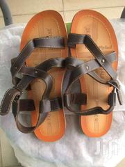 Brown Crosed Fly Flat Sandals For Men | Shoes for sale in Greater Accra, Achimota