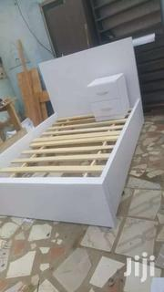 Elegant Double Bed With Side Drawer(Lock) Free Delivery | Furniture for sale in Greater Accra, Accra Metropolitan