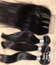 8' Inches 3 Bundles Plus 3 Part Closure   Makeup for sale in Greater Accra, Nungua East