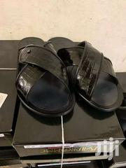 Black Color Leather Sandal Without Buckle | Shoes for sale in Greater Accra, Okponglo