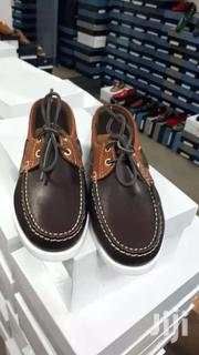 Orange And Dark Brown Color Leather Moccasins | Shoes for sale in Greater Accra, Okponglo