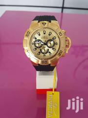 Invicta Watch Gold With Rubber Strap For Sale   Watches for sale in Greater Accra, Accra Metropolitan