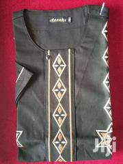 Embroidered Short Sleeve Native Shirt - Black | Clothing for sale in Greater Accra, Lartebiokorshie