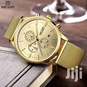 Megir 2011 Luxury Chronograph Mesh Watch | Watches for sale in Greater Accra, Accra Metropolitan