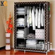 Black/Gold Double Wardrobe | Furniture for sale in Greater Accra, Kotobabi