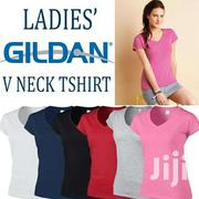 Gildan Ladies Vneck T-shirt | Clothing for sale in Greater Accra, Dzorwulu