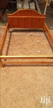Well Polished Red Wood Double Bed | Furniture for sale in Greater Accra, Kwashieman