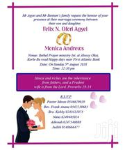 Invitation Cards | Wedding Venues & Services for sale in Greater Accra, Asylum Down