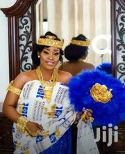 Beautiful White, Gold And Royal Blue Kente | Clothing for sale in Greater Accra, Labadi-Aborm