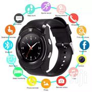 V8 Smart Watch All Black | Accessories for Mobile Phones & Tablets for sale in Greater Accra, Okponglo