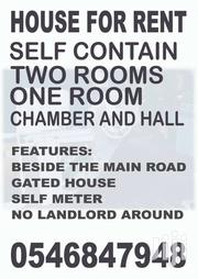 SELF CONTAIN ONE ROOM APARTMENT | Houses & Apartments For Rent for sale in Greater Accra, Accra new Town