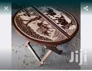 Engrave Beautiful African Foldable Table | Furniture for sale in Greater Accra, Accra Metropolitan