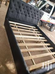 Black Leather Bed | Furniture for sale in Greater Accra, Abelemkpe