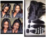Peruvian Silky Straight 8' Plus Frontal | Makeup for sale in Eastern Region, New-Juaben Municipal