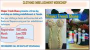 CLOTHING EMBELLISHMENT MASTER CLASS | Classes & Courses for sale in Greater Accra, Roman Ridge