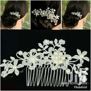 Pearl Wedding Hair Comb And A Hair Chain | Jewelry for sale in Greater Accra, South Kaneshie
