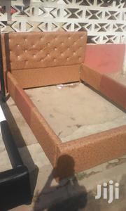 Double Size Bed Leather Very Affordable. | Furniture for sale in Greater Accra, Dansoman
