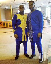 Blue African Wear With Gold Embroidery Design, Made To Order | Clothing for sale in Greater Accra, Tema Metropolitan