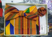 BLUE CITY Kente Fabric Bow Tie Set | Clothing Accessories for sale in Greater Accra, Odorkor