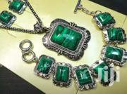 Malachite Precious Gem Stone Necklace Bracelet and Earring Gift Set | Jewelry for sale in Greater Accra, Adenta Municipal