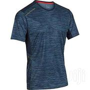 MEN'S RUNNING T-SHIRT WHITE /BLUE Blue Grey, PRINT | Sports Equipment for sale in Greater Accra, Achimota