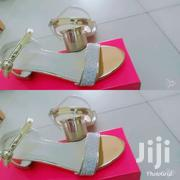 Low Heel Sandals ( Gold Colour | Shoes for sale in Greater Accra, Adenta Municipal