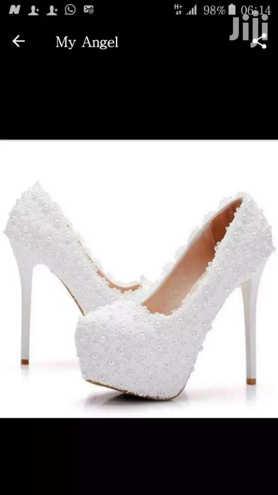 Wedding Shoe With Pearls