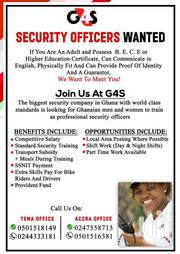 Private Security Guard Position | Accounting & Finance Jobs for sale in Greater Accra, Tema Metropolitan