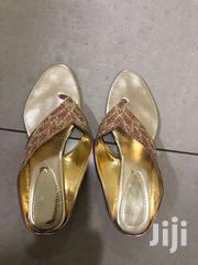 Pair Of Fancy Golden Slipper | Shoes for sale in Greater Accra, Dzorwulu