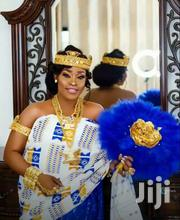 White, Gold And Royal Blue Kente Cloth New | Clothing for sale in Greater Accra, Labadi-Aborm