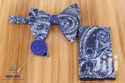 BLUE CITY Blue And White Butterfly Bow Tie Set | Clothing Accessories for sale in Greater Accra, Odorkor