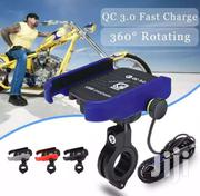 Motorcycle USB Mobile Phone QC3.0 Fast Charger & Rotating Holder Mount | Clothing Accessories for sale in Greater Accra, Adenta Municipal