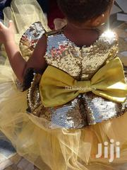 Round Neck Sequins And Tulle Dress In Gold For 1 To 5 Year Olds   Children's Clothing for sale in Greater Accra, Teshie-Nungua Estates