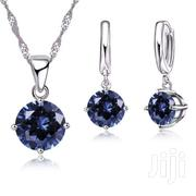 Sterling Silver Blue Crystal Necklace Set | Jewelry for sale in Greater Accra, Ga South Municipal